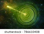 wormhole or blackhole  funnel...   Shutterstock . vector #786610408