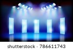 blue lights on the stage.... | Shutterstock .eps vector #786611743