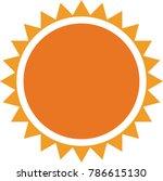 minimalistic sun icon   Shutterstock .eps vector #786615130