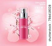 sukura   cherry blossom...   Shutterstock .eps vector #786618028