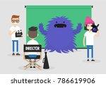 camera crew  director ... | Shutterstock .eps vector #786619906