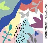 vector abstract artistic header ... | Shutterstock .eps vector #786623890
