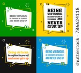 vector quote set. being... | Shutterstock .eps vector #786624118