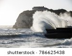 stormy sea at freshwater bay... | Shutterstock . vector #786625438