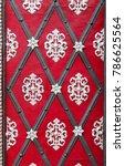 medieval red doors. prague....   Shutterstock . vector #786625564