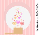 candy  hearts in a box. vector... | Shutterstock .eps vector #786626056