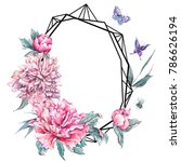 watercolor nature polygonal... | Shutterstock . vector #786626194