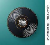 new gramophone vinyl label.... | Shutterstock .eps vector #786629494