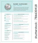 medical cv   resume template...   Shutterstock .eps vector #786630418