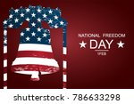 the liberty bell as symbols of... | Shutterstock .eps vector #786633298