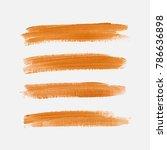 acrylic art brush painted... | Shutterstock .eps vector #786636898