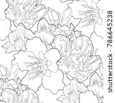 seamless pattern coloring... | Shutterstock .eps vector #786645238