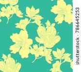 seamless pattern  flower of the ... | Shutterstock .eps vector #786645253