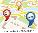 set of tourism services map... | Shutterstock .eps vector #786650410