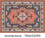 colorful oriental mosaic sarouk ... | Shutterstock .eps vector #786652090