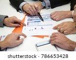 multiple hands of business... | Shutterstock . vector #786653428