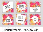 abstract vector layout... | Shutterstock .eps vector #786657934