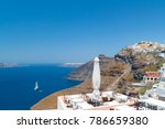 white architecture of oia town... | Shutterstock . vector #786659380