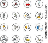 line vector icon set   holly... | Shutterstock .eps vector #786661804