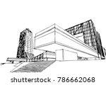 modern architecture vector... | Shutterstock .eps vector #786662068