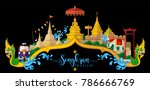 songkran festival  thailand... | Shutterstock .eps vector #786666769