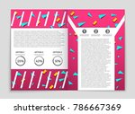 abstract vector layout... | Shutterstock .eps vector #786667369