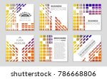 abstract vector layout... | Shutterstock .eps vector #786668806