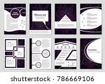 abstract vector layout... | Shutterstock .eps vector #786669106