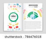 abstract vector layout... | Shutterstock .eps vector #786676018
