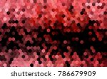 dark red vector low poly... | Shutterstock .eps vector #786679909