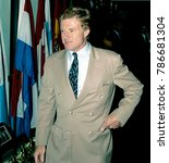 Small photo of Washington, DC. USA, 1st, October, 1990 Actor and environmentalist activist Robert Redford delivers his speech at the National Press Club Luncheon.