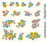floral arrangements in small...   Shutterstock .eps vector #786682768