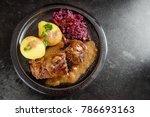 beef rolls  traditional german... | Shutterstock . vector #786693163