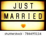 just married retro cinematic... | Shutterstock . vector #786695116