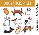 Dogs Emoji Stickers Patches...