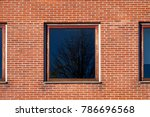square window with hardwood... | Shutterstock . vector #786696568