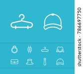 accessories icons set with...