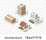 set of 4 isometric high quality ... | Shutterstock .eps vector #786697978