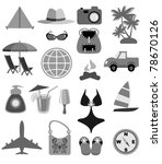beach icons | Shutterstock .eps vector #78670126