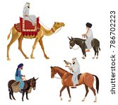 set of riders on different... | Shutterstock .eps vector #786702223