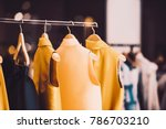 modern woman clothing in a... | Shutterstock . vector #786703210