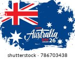 happy australia day  january 26 ... | Shutterstock .eps vector #786703438