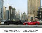 dubai  uae   march 18   traffic ...   Shutterstock . vector #786706189