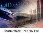euro coins and us dollar... | Shutterstock . vector #786707140