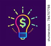 linear icon finance idea of... | Shutterstock .eps vector #786707788