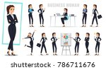 set of business woman in... | Shutterstock .eps vector #786711676
