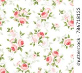 vector seamless pattern with... | Shutterstock .eps vector #786718123