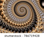 Abstract fractal background Spiral patterns of computer image. Beautiful abstract background for wallpaper, album, poster, booklet. Fractal digital graphics for creative graphic design.