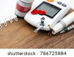 miniature people   with glucose ... | Shutterstock . vector #786725884