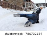 accident danger in winter. a... | Shutterstock . vector #786732184